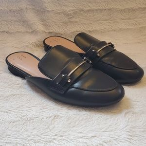 A New Day Black Slip On Loafers Size 7